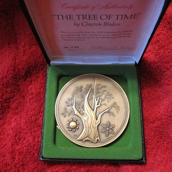 1973 FRANKLIN MINT STERLING TREE TIME CALENDAR