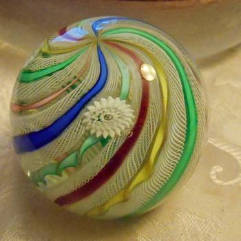 Vintage Art Glass Paperweight - Art Glass