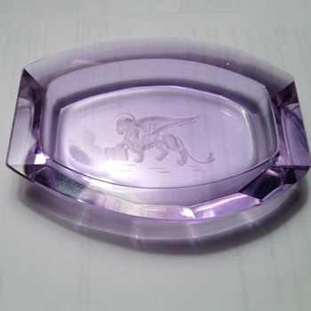 2nd alexandrite pin dish - Glassware