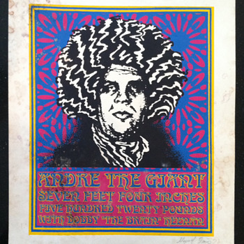 Andre Hendrix Fillmore (original Shepard Fairey screen print) - Posters and Prints