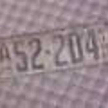 1925 Minnesota Licence Plate