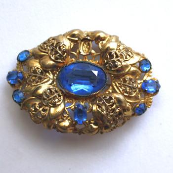 Vintage brooch, Czechoslovakia? - Costume Jewelry