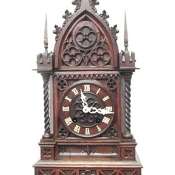 Rare, 1800's carved  antique cuckoo clocks. wall clocks, and mantle style.  - Clocks