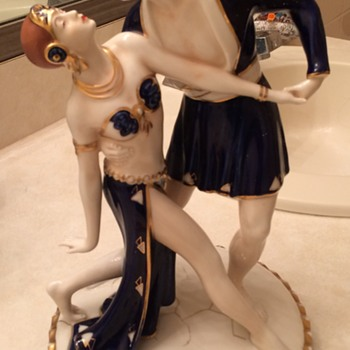 Royal Dux Art Deco Porcelain Figurine