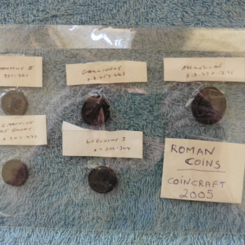 Ad207-ad303-ancient Roman coins-coincraft 2005. - World Coins