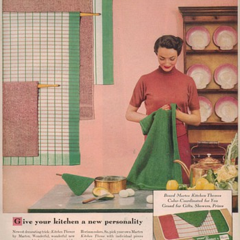 1950 Martex Towels Advertisement