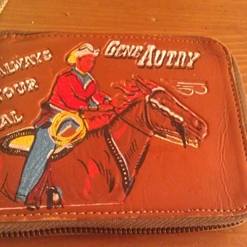 Vintage Gene Autry Wallet With Official Badge - Accessories