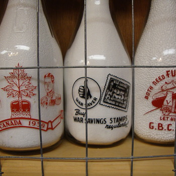 Canadian Milk Bottles With War Slogans.....
