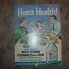 60s rexall drug store cardboard poster