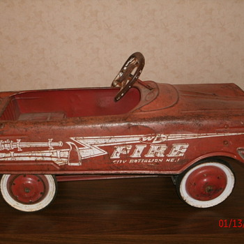 Antique Pedal Car - WF Fire Battalion 1