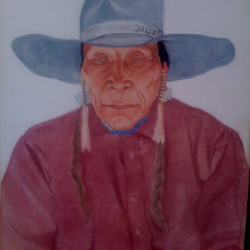 striking native american portrait
