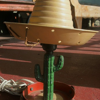 Mexican Sombrero,  Saguaro Cactus Lamp