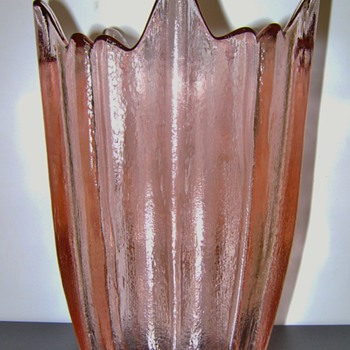 Pink Vase - Art Glass