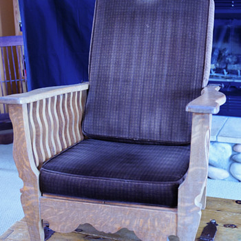 morris / victorian wood recliner - Furniture