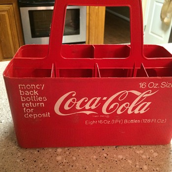 Coca Cola eight pack plastic soda carrier (1950's) - Coca-Cola