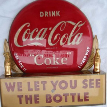 1950's Coca Cola point of sale sign - Coca-Cola