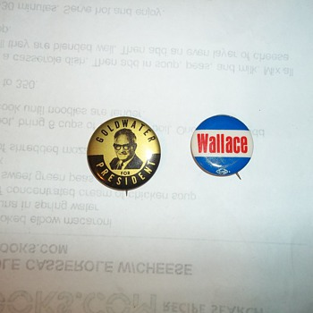 60s  CAMPAIGN BUTTONS - Medals Pins and Badges
