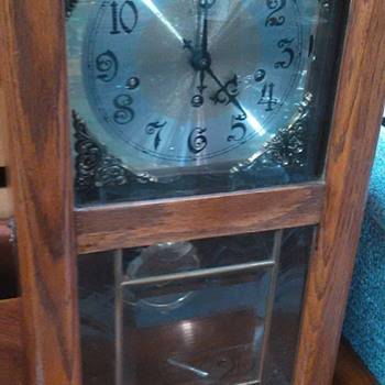 Cool 60s looking 8 day Westminster chime ansonia wall clock