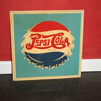 pepsi cola tin sign - Advertising
