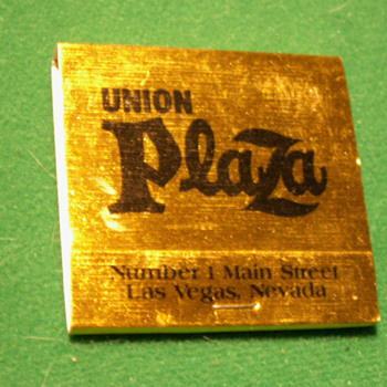 Vintage Union Plaza Casino Matches ~ Las Vegas, Nevada (Fremont Street) - Tobacciana