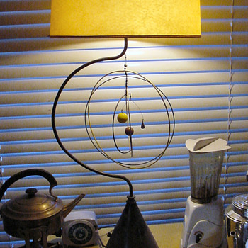 50's planet mobile lamp, just about as wild as you can get. - Mid-Century Modern