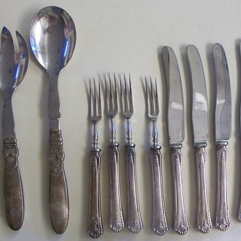 Georg Jenson Sterling set  ++  Cooper Bros and Sons Set - Sterling Silver