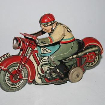 SFC motorcycle tin toy