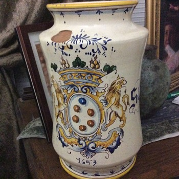 Antique apothecary jar