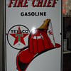 1962 Fire Chief Gasoline Texaco Pump Plate Porcelain Sign...Five Colors