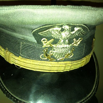 """Working green""  US naval aviator officer's hat."