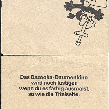 Old German Bazooka Joe comics