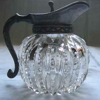 brilliant cut syrup pitcher