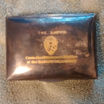 Inscribed Military keepsake box/ cigarette box