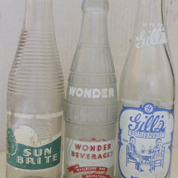 Some ACL soda pop bottles~Wonder Beverages   - Bottles