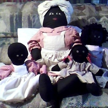 black americana old cloth dolls