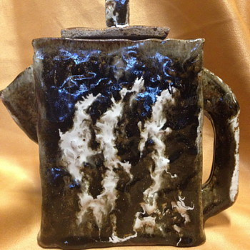 Ceramic Art Pottery Stoneware Soda Fire Water Jug  - Art Pottery