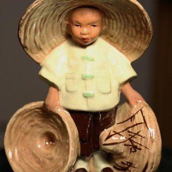 Chinese Boy Planter - McCarty Bros California Pottery 1948