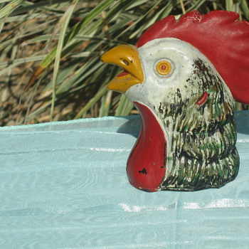 Glass Rooster Head