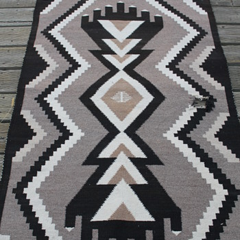 Two Gray Hills? wool Navajo? rug - Rugs and Textiles