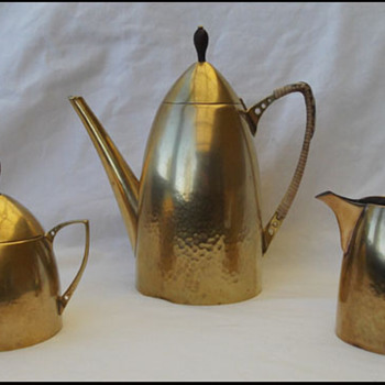 F & R FISCHER JUGENSTIL COFFEE SET - Art Nouveau