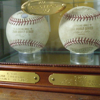 2004 World Series Game Used Baseballs from Games 3 and 4 - Baseball