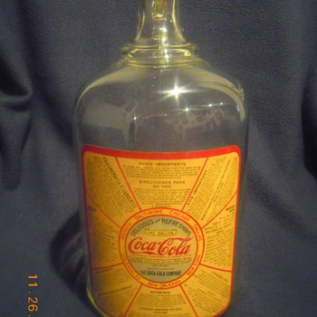 1930's Coca-Cola Glass Syrup Jug - Coca-Cola