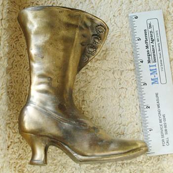 """Antique brass womens boot 6"""" tall5"""" long, 2 wide"""
