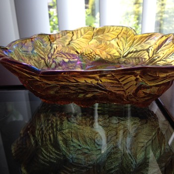 Carnival Bowl or Fenton glassware Yellow