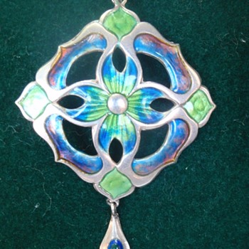 Arts & crafts enamel pendant - Arts and Crafts