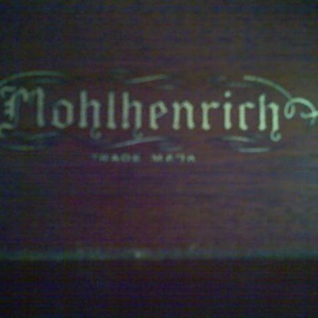 Mohlhenrich  Walnut Armoir- Gold Leaf Emblem - Furniture