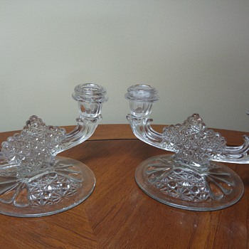 Pair of Dual Candleholders - Glassware