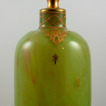 Loetz Green Onyx Scent Bottle, PN II-736, ca. 1900