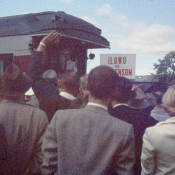 Adlai Stevenson's Campaign Stop, Kingston, PA 1956 - Photographs