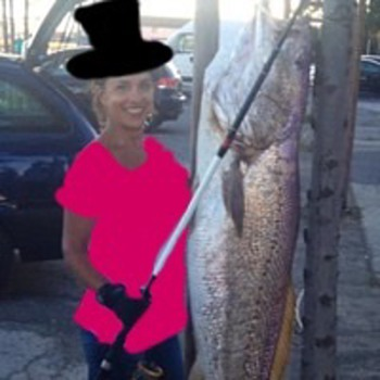 Patsea design concept: wearing 1980's shirt and top hat while fishing  - Womens Clothing